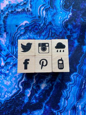 Social media rubber stamps for Sale in Bowie, MD