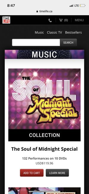 Soul of Midnight Special 10Dvd set for Sale in Oak Park, IL