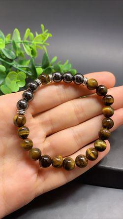 Natural Tiger Eyes Beads Bracelet for Sale in Los Angeles,  CA
