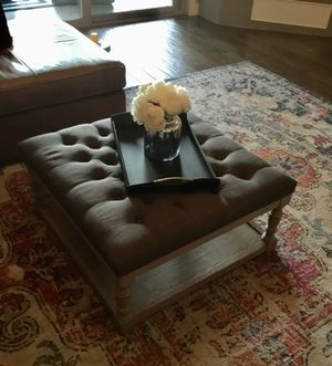 Tufted Shelved Coffee Table for Sale in Scottsdale, AZ
