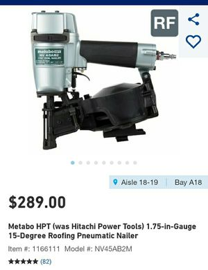 Hitachi Metabo roofing nailer roof nail gun NEW for Sale in Columbus, OH
