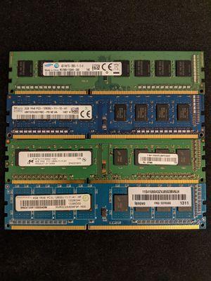 Desktop PC DDR3 RAM - 3x4GBs, 1x2GBs for Sale in Charlotte, NC