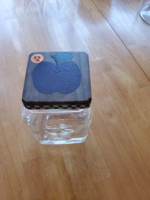 Apple themed storage container for Sale in Erie, PA