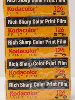 5 Rolls Kodak Kodacolor 126 Exp. 10/94 for Sale in Los Angeles,  CA