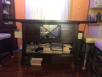 Countertop Table & Stools With Wine & Storage for Sale in Atlanta,  GA
