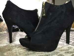 Black Rue!21 Suede Bootie Heels for Sale in Joliet, IL