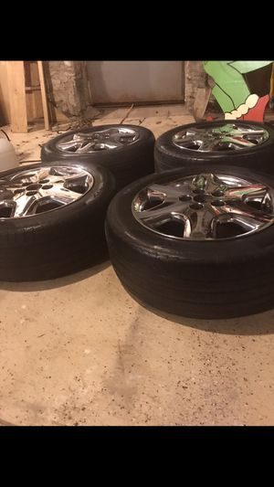 Chrome 5 spoke rims and tires for Sale in Nashville, TN