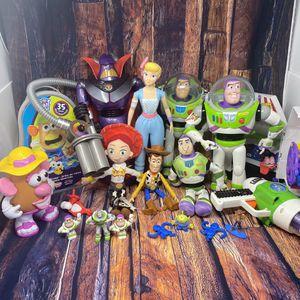 Toy Story Lot Buzz Lightyear Emperor Zurg Jessey Woody Ms Potato Head Monkeys Alien Nerf Gun Bo Beep BUZZ Fair House for Sale in Miami, FL