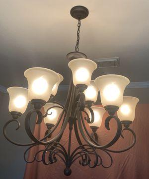 Bronze 9 light chandelier for Sale in Richmond, TX