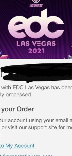 EDC Tickets for Sale in Carson,  CA