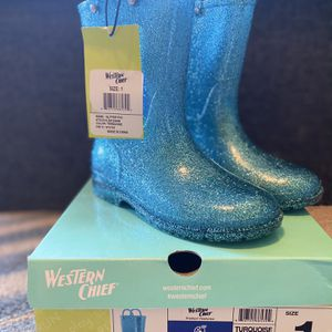 Western Chief Glitter Turquoise Rain Boots for Sale in Laguna Niguel, CA