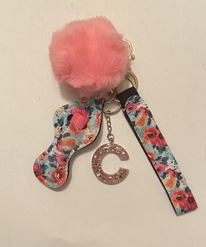Handmade letter C keychain with chapstick for Sale in Wichita, KS