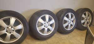 Mercedes Benz rims and tires....255/55/R18 for Sale in Menands, NY