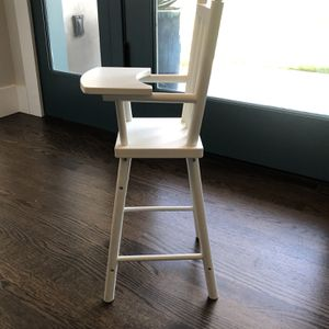Pottery Barn Baby Doll High Chair - White As New for Sale in Newport Beach, CA