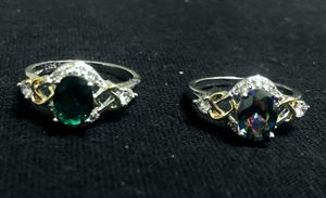 Sterling Silver Ring / Green or Multicolor CZ for Sale in Las Vegas, NV