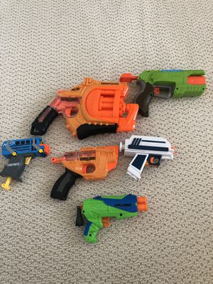 Set of 6 Nerf Guns like new for Sale in Palmdale, CA