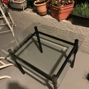 FREE Black Metal And Glass End Table for Sale in Whittier, CA