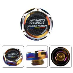 BRAND NEW MUGEN POWER BURNT BLUE ENGINE OIL CAP REAL CARBON FIBER EMBLEM HONDA / ACURA for Sale in City of Industry,  CA