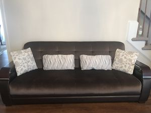 sofas ( two of each) convert it to bed and sleep on it :))) for Sale in Charlottesville, VA