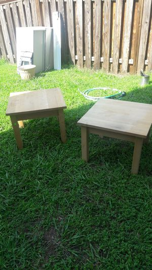 Two plain wooden tables ikea for Sale in Fairfax, VA