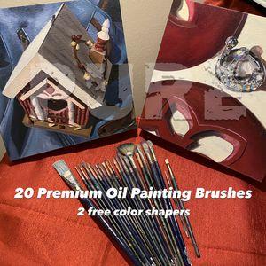 20+2 Pro Premium Oil Painting Brushes for Sale in Herndon, VA