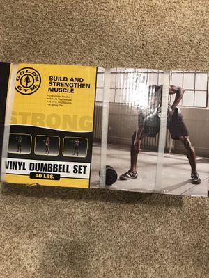 Vinyl Dumbbell Set for Sale in Cleveland, OH