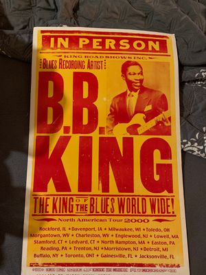 BB King road show promo flyer for Sale in Dayton, ME