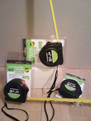 25Ft. Tape measure with strap $5 each for Sale in Greenbelt, MD