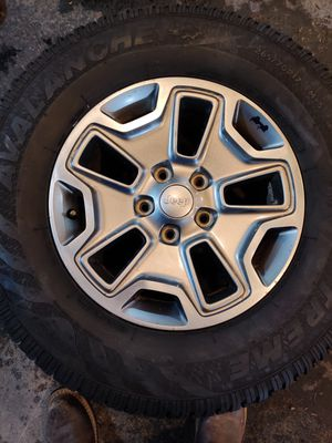 Set of 4 jeep wheels and tires for Sale in Puyallup, WA