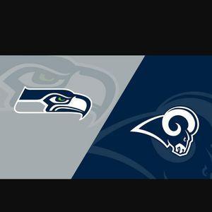Rams vs Seahawks 30 yard line Row 9 from the field!! for Sale in Corona, CA