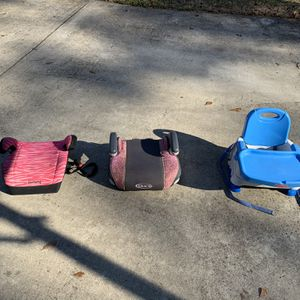 Booster seats For Kids - Variety! for Sale in Marietta, GA