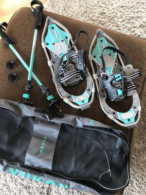 Women's snowshoes + poles (like new) for Sale in Prineville, OR