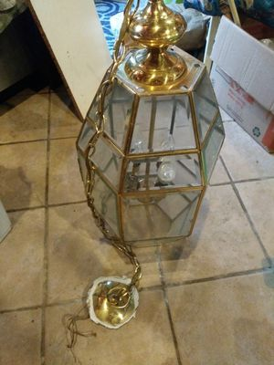 Large hanging glass light fixture for Sale in Philadelphia, PA