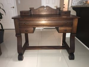 Antique Victorian Era Mahogany Writing Desk $700 for Sale in Tracy, CA