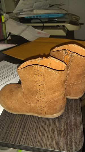 Suede boots size 4 girls for Sale in Lowell, MA