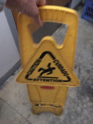 Wet floor caution sign for Sale in Newark, CA