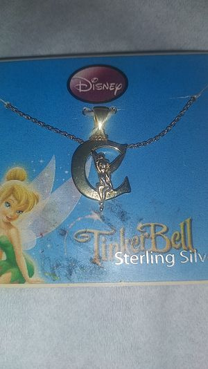 Brand new Tinkerbell sterling silver necklace for Sale in Orlando, FL