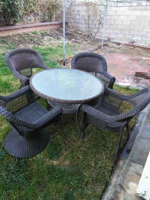 Outdoor wicker patio furniture 8 pieces for Sale in Lancaster, CA