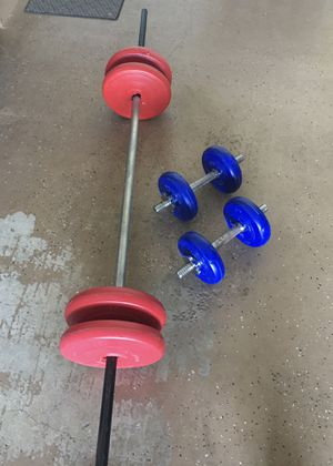 Pending pick up- Weights - Dumbbells - Bar for Sale in Harrisburg, PA