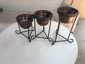 """Vintage metal candle holders 8"""",10"""" and 12"""" inches for Sale in Phoenix, AZ"""