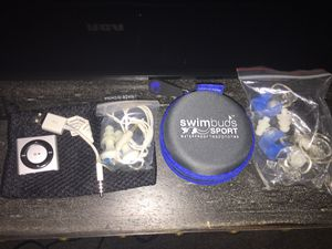 Waterproof ipod shuffle and swimbuds earbuds nano mini swim water mp3 player for Sale in Seattle, WA