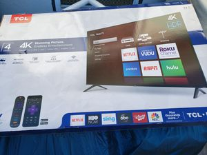 New 50 inch tcl TV with roku for Sale in Los Angeles, CA
