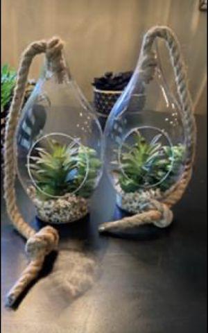 2 Boho Faux Succulent Terrariums PLEASE READ!!! for Sale in Chandler, AZ