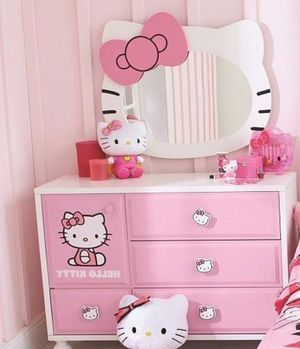 Kids hello kitty dresser wall piece and nightstand for Sale in Chapel Hill, NC