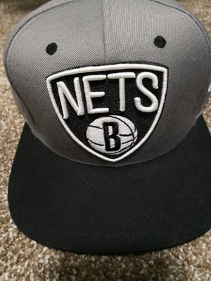 Brooklyn Nets grey Adidas NBA hat snapback for Sale in Phoenix, AZ