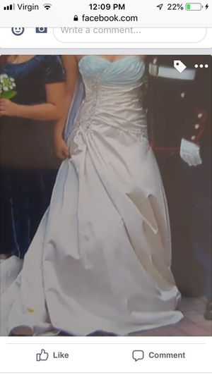 White and blue wedding dress for Sale in Olympia, WA