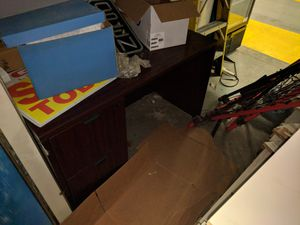 Desk with built-in file cabinet for Sale in Lincoln Park, MI