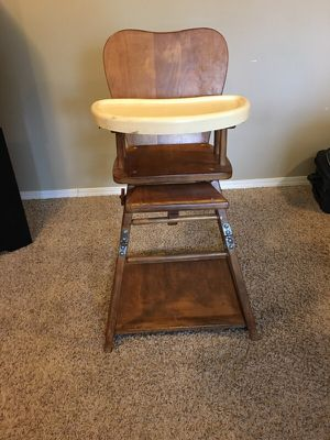 Antique high chair / desk for Sale in Seattle, WA