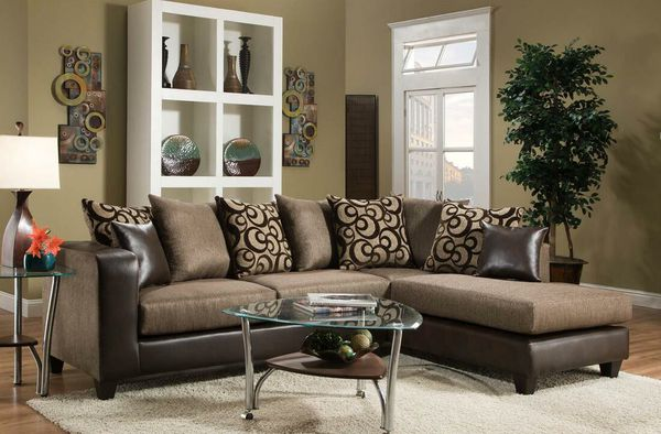 Best Price Brand ️ Special Monroe Brown Raf Sectional For