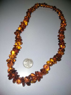 Natural Baltic Amber Necklace for Sale in Palm Springs, FL